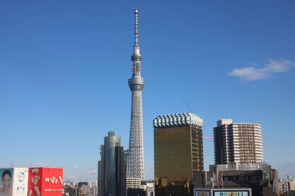 展望テラスから望む東京スカイツリー