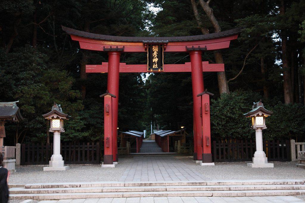 Torii of Yahiko shrine